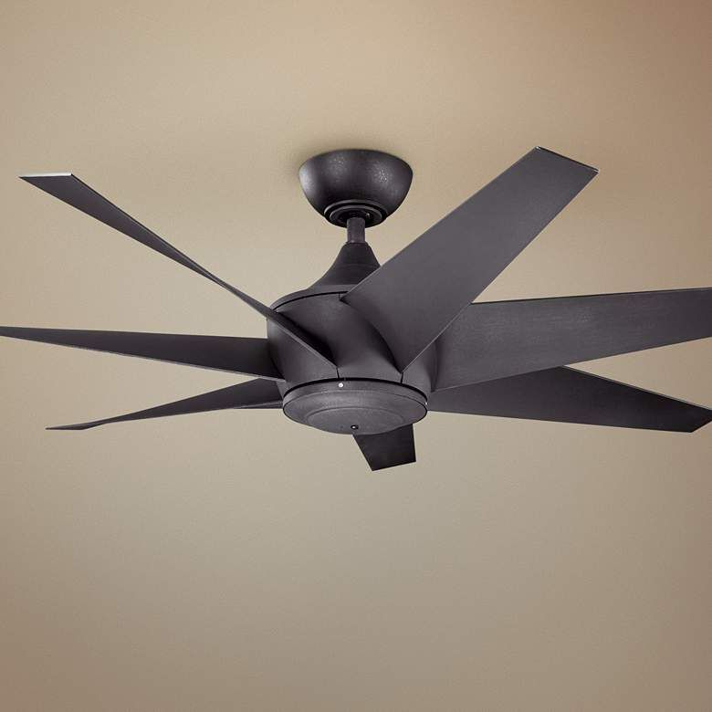 54 Kichler Lehr Ii Climates Black Outdoor Ceiling Fan 6p243
