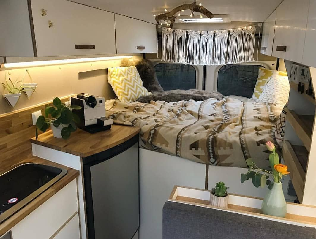 Cozy home in a small van