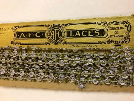 Antique 1920s Silk Rosettes Ombre Ribbon Work by OldStNicksAttic