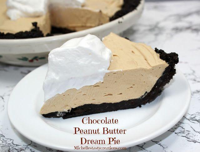 Chocolate Peanut Butter Dream Pie Recipe! #pie #recipes