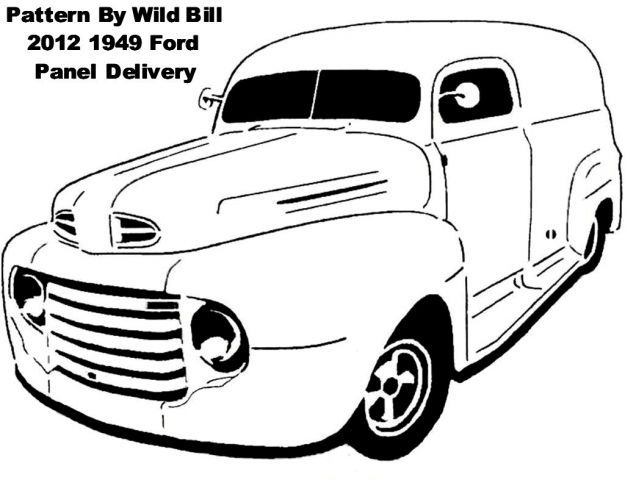 1949 ford panel delivery  chopped  - transportation