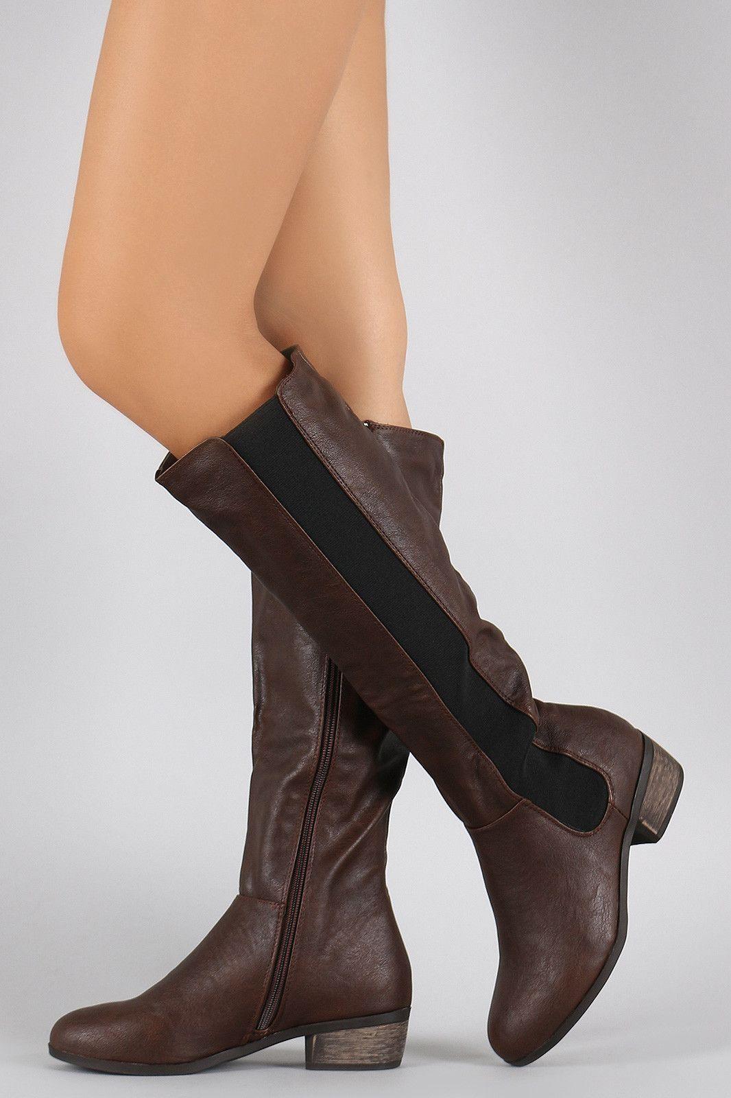 Dollhouse Elasticized Riding Knee High Boots