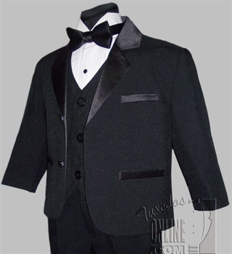 abf22b8dd29 Possible Tux for Owen Boys Tuxedo BLACK Ring Bearer Infant Toddler Children  Teen Tuxedos
