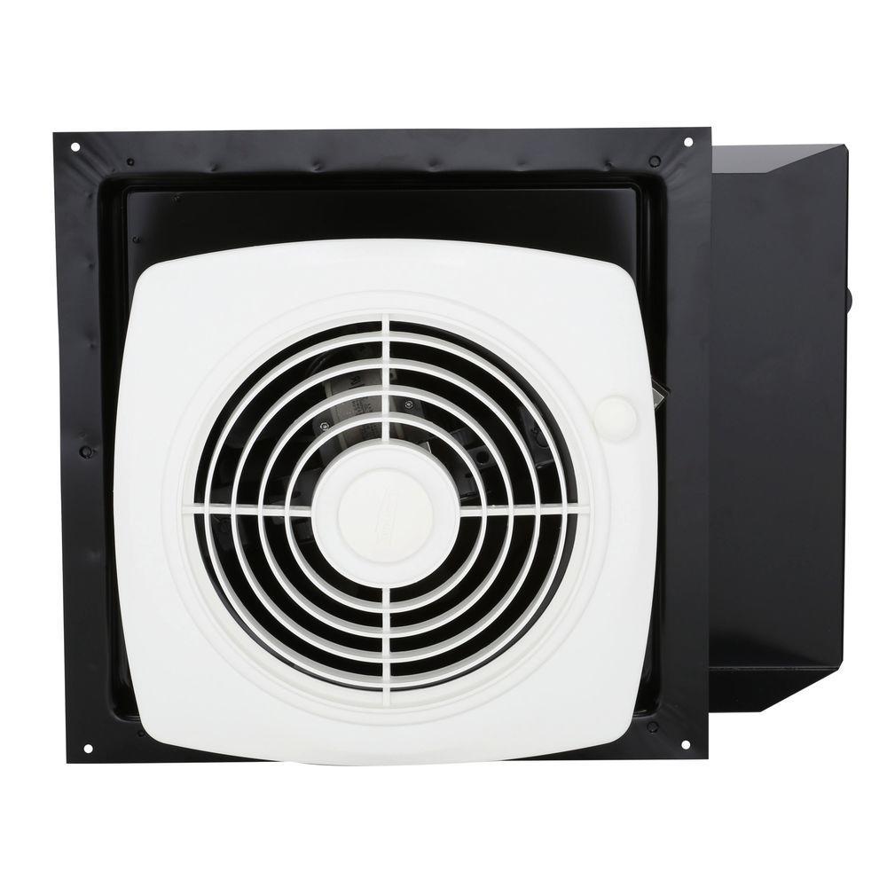 Broan 180 Cfm Through The Wall Exhaust Fan With On Off Switch White Bathroom Exhaust Fan Wall Fans Bathroom Fan Light