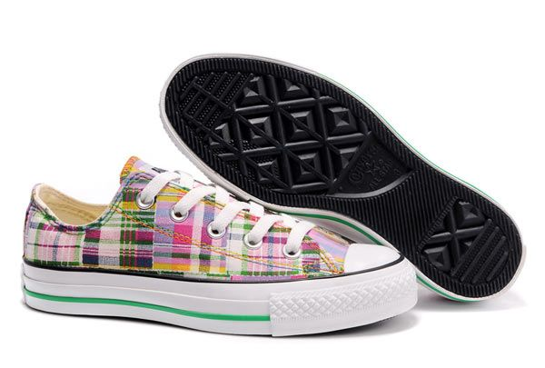 19ac33777975 Converse All Star Overseas Colorful Plaid Low Top Canvas Shoes ...