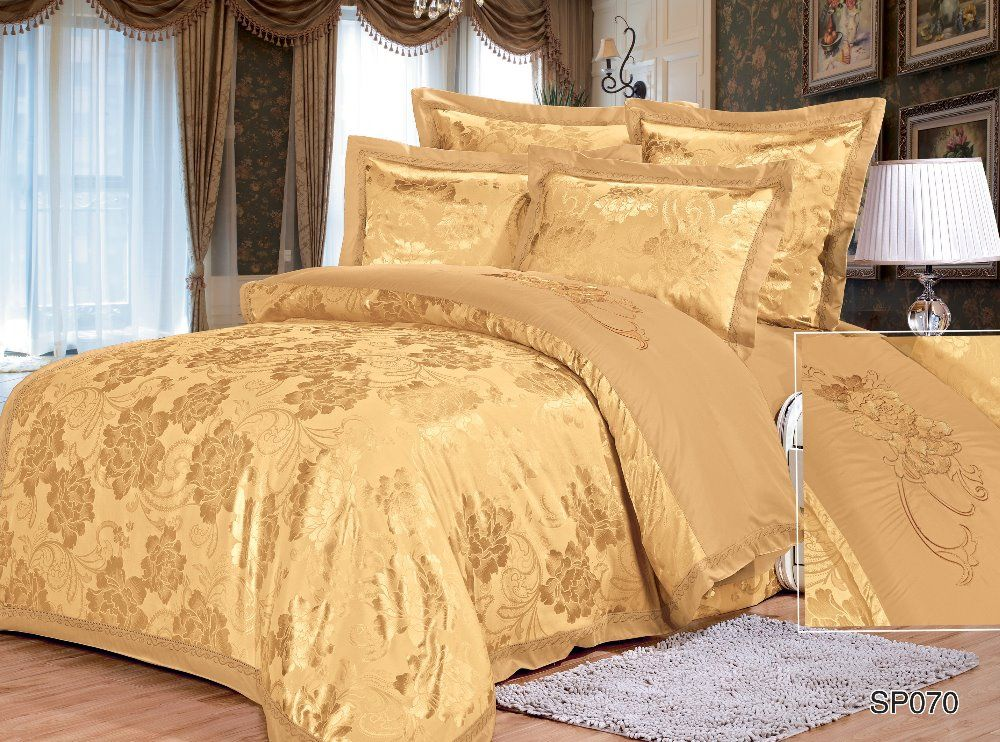 High Quality Bedding Sets Satin Luxury Bed Sheet New Fashion Designer  Jacquard Comforter Duvet Cover Set