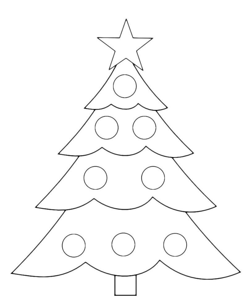 Albero Di Natale Da Colorare.Natale Albero Di Natale Semplice Natale Artigianato