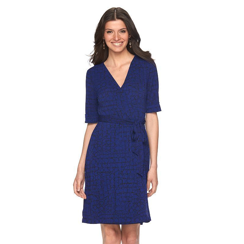 Women's Apt. 9® Faux-Wrap Dress, Size: