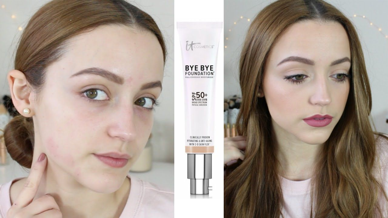 Review Demo It Cosmetics Bye Bye Foundation Bye Bye Foundation It Cosmetics Foundation Beauty Products Drugstore