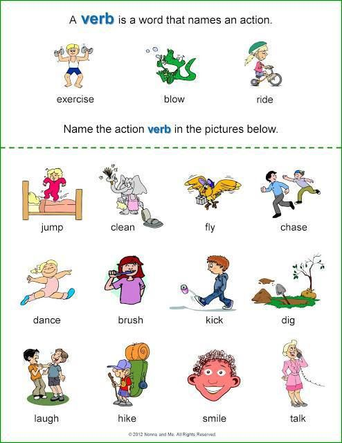 Verbs Printable Worksheet Pack Kindergarten First Second Grade Tpt Language Arts Lessons Nouns Kindergarten Verb Worksheets Nouns Verbs