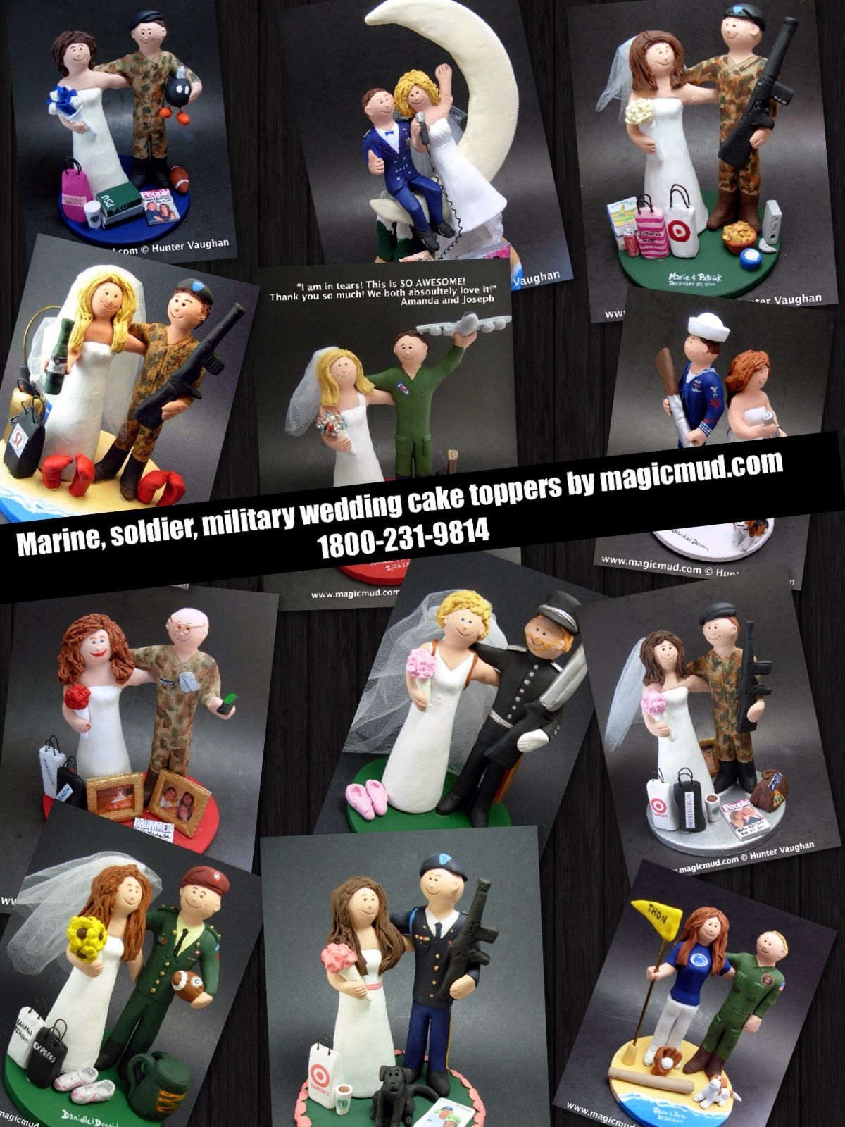 Military wedding cake toppers by gicmud