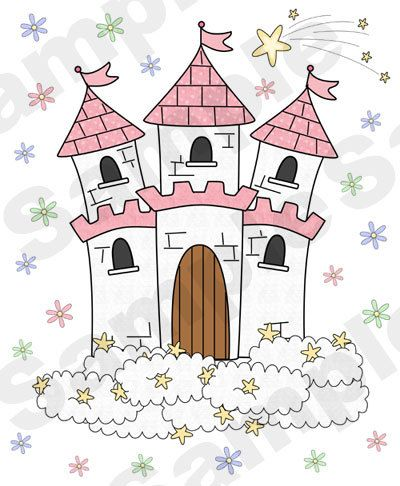 PRINCESS CASTLE DECAL Wall Art Girl Nursery Decor Mural ...