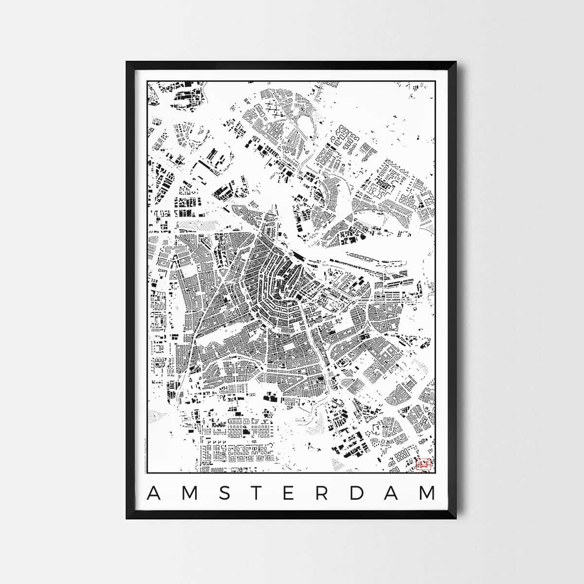 Amsterdam map poster city art posters and map prints art posters amsterdam map poster city art posters and map prints gumiabroncs Image collections
