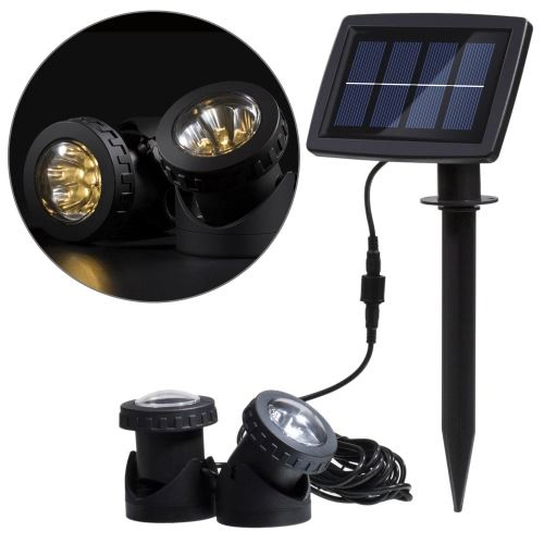 Solar powered super bright 2 underwater lamps 12 leds light sensor solar powered super bright 2 underwater lamps 12 leds light sensor projector light garden pool pond aloadofball Choice Image