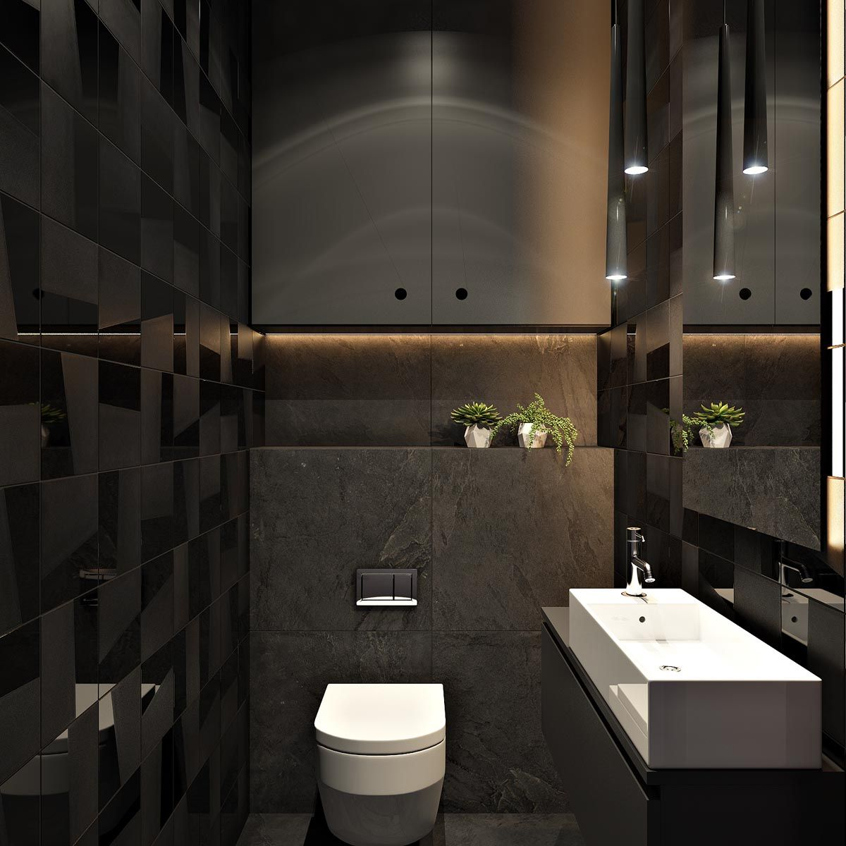 2 Masculine Interiors In Shades Of Grey Black Brown Black And