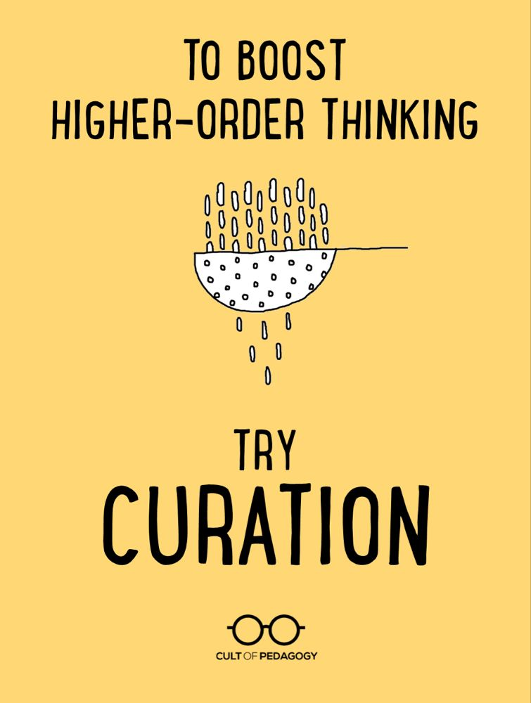 To Boost Higher-Order Thinking, Try Curation | Cult of Pedagogy