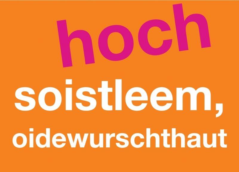 Postkarte Hoch Soistleem Oidewurschthaut Inspirierende Zitate