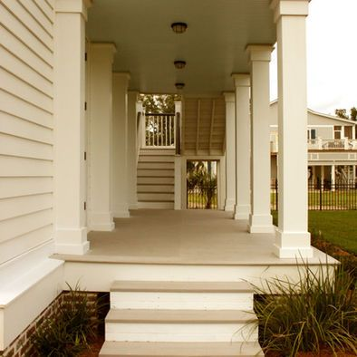 Exterior wrap around concrete porch design pictures for Wrap around porch columns