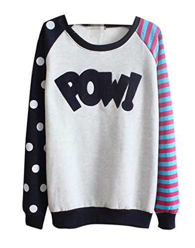 Lingswallow Women Fashion Cute Stripe Long Sleeve Pullover ...
