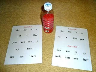 Mom to 2 Posh Lil Divas: Kindergarten Fun: Sight Word Discovery Bottles
