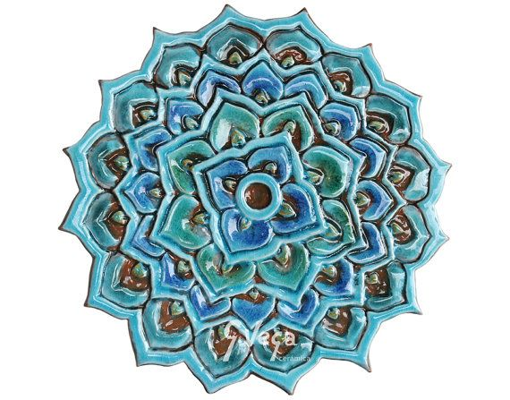 Decorative Outdoor Wall Tiles Awesome Mandala Wall Decor Made From Ceramic  Outdoor Wall Art  Ceramic Design Inspiration
