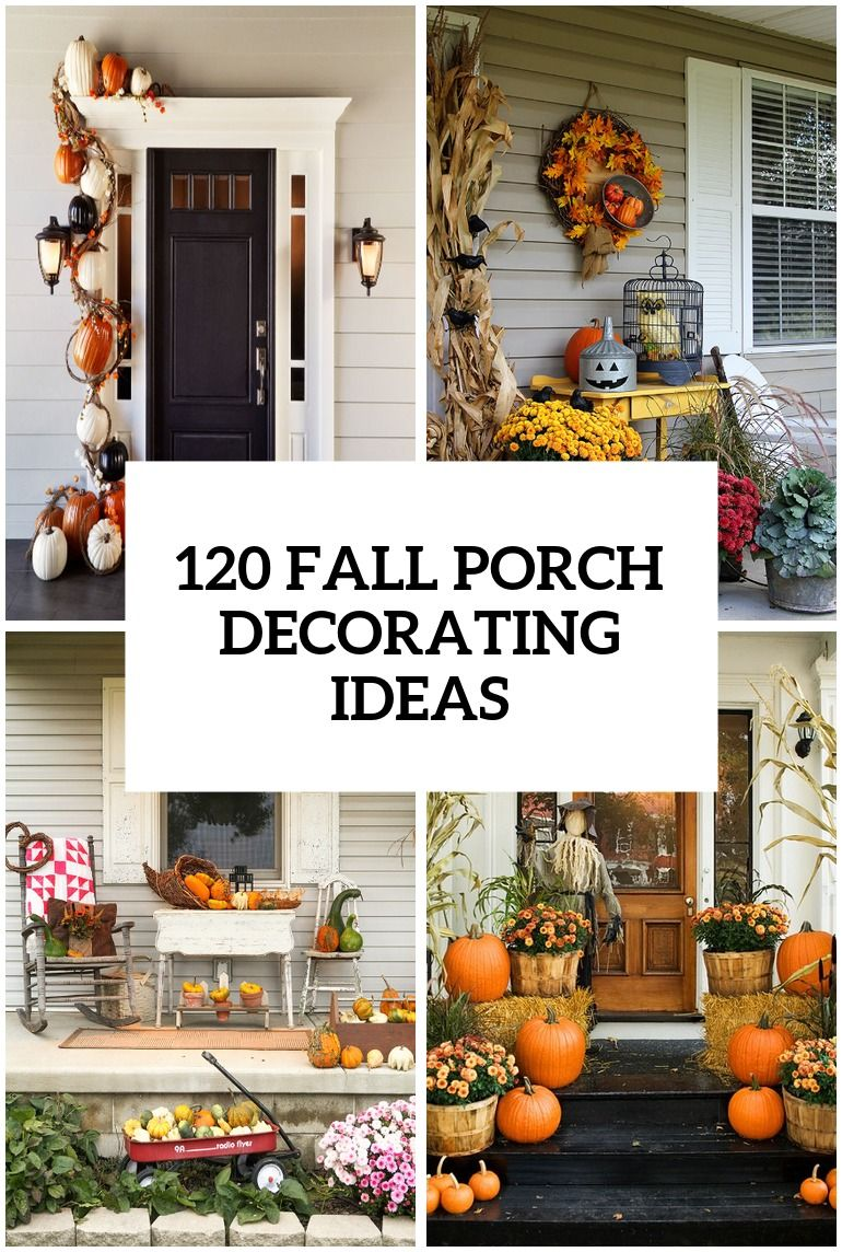Fall porch decorating ideas projects to try herbst - Fall porch decorating ideas ...
