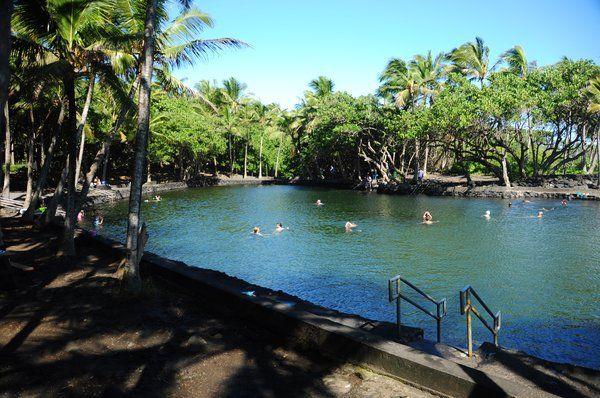 Alahanui Park - natural thermal pond | Hawaii | Big island hawaii