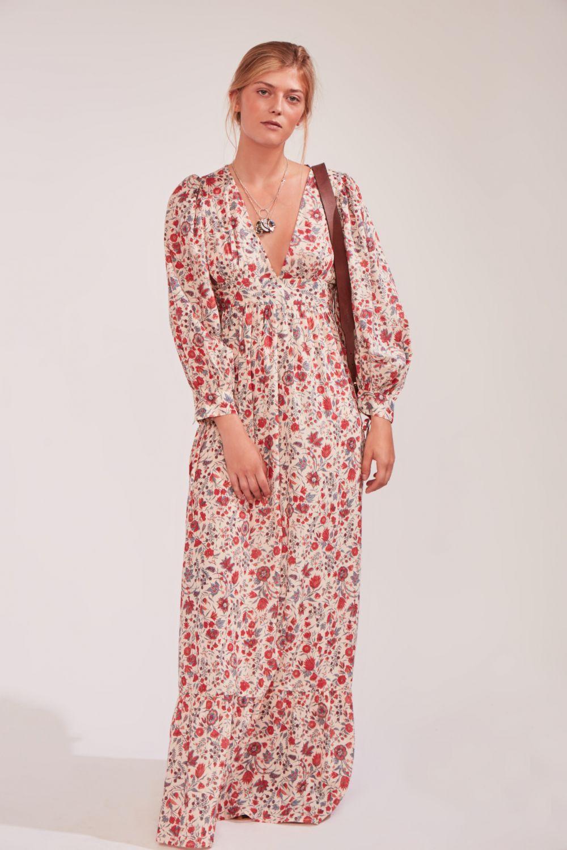 447eea3a278 Robe longue fleurie Annie en 2019