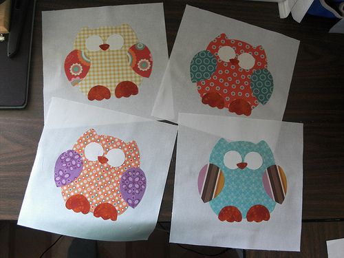 Quilt square. -Used different fabric. It's really cute and the ony ... : owl applique quilt pattern - Adamdwight.com