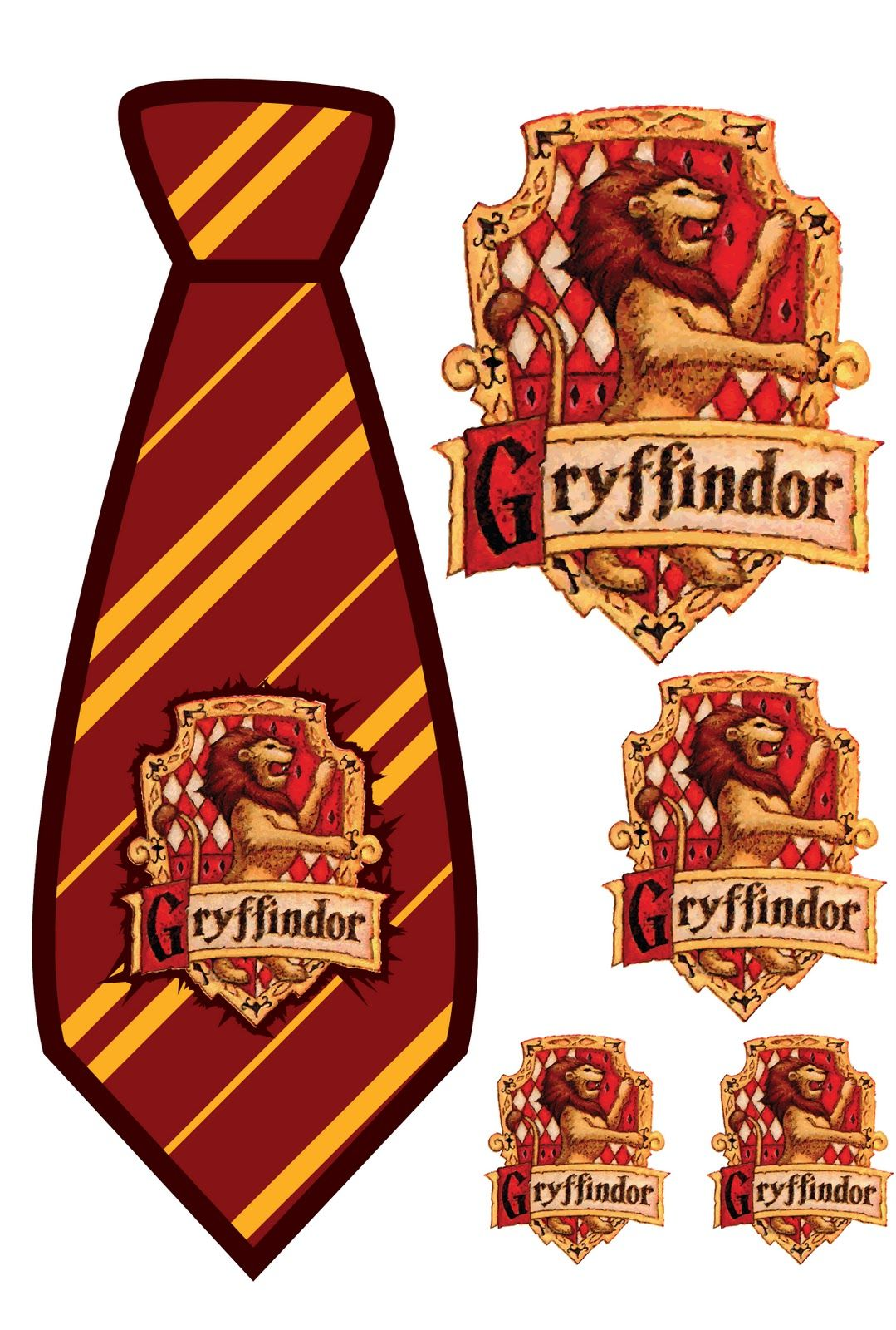 Elemonade harry potter gryffindor tie print out home for Harry potter tie template