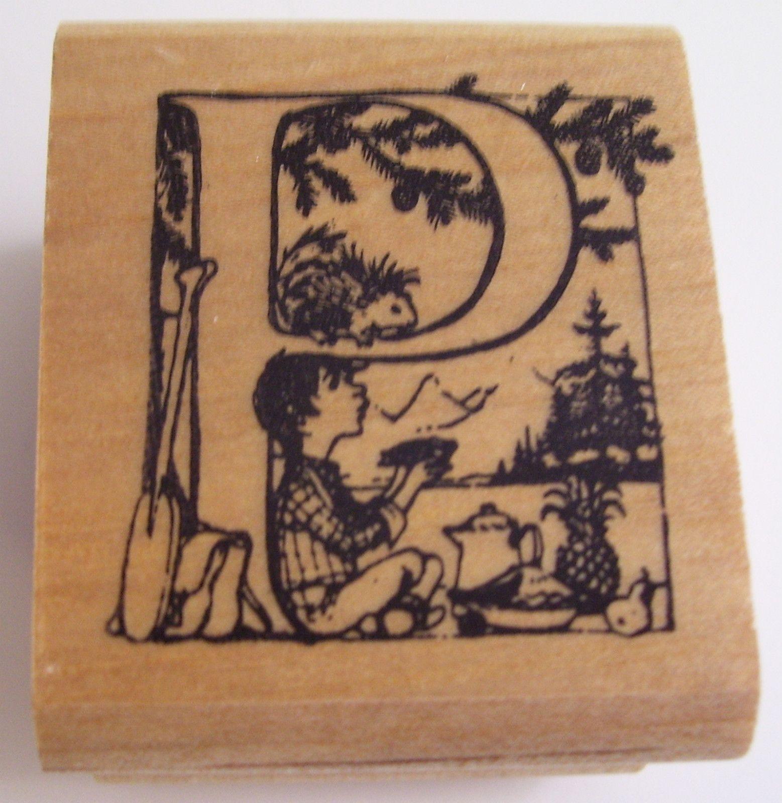 Trina Schart Hyman Alphabet Letter P Rubber Stamp