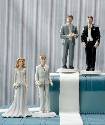 3cc9825831 Gay and lesbian-friendly wedding cake toppers. Fashionable Bride And Groom  Mix & Match ...