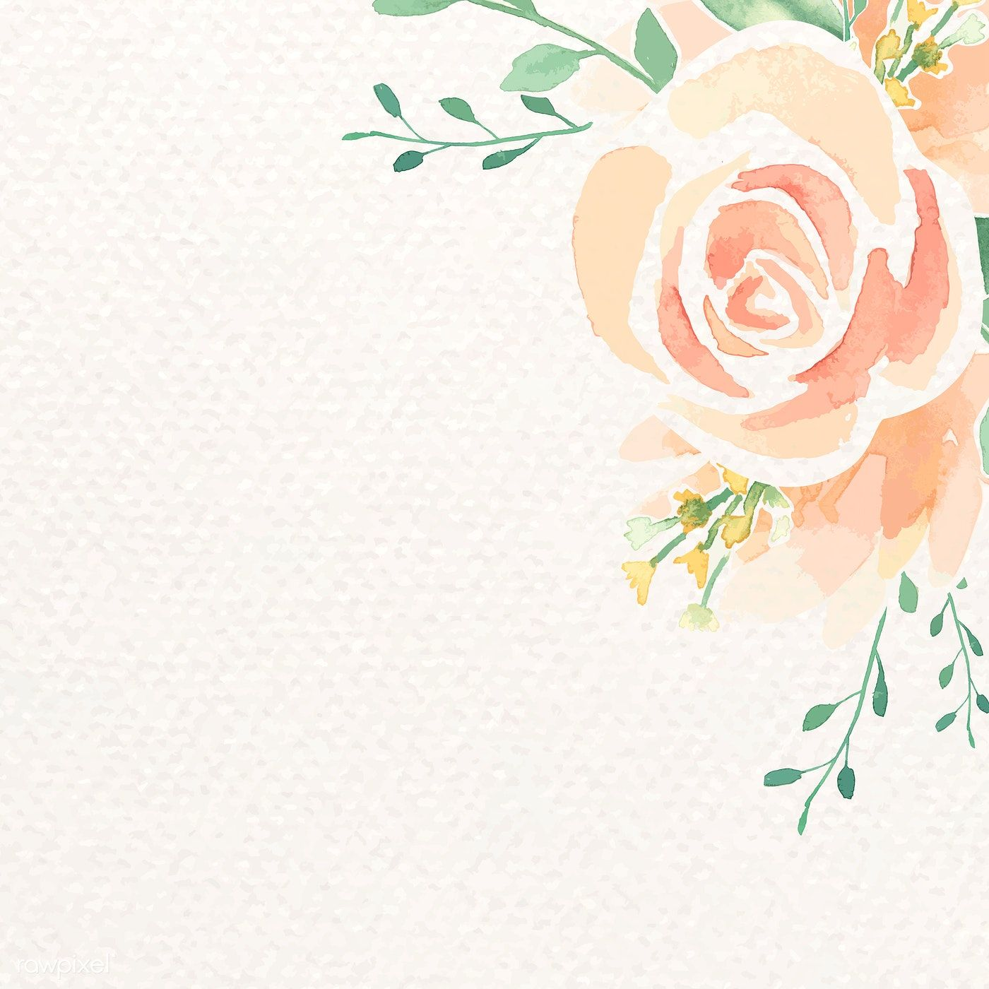 Download Premium Vector Of Watercolor Orange Flower Border Vector