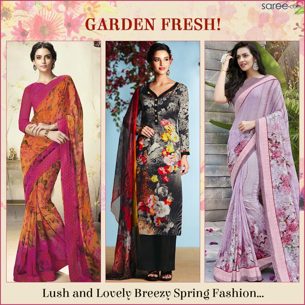 Crisp, resplendent and enchantingly refreshing Spring-Summer fashion – by Saree.com…