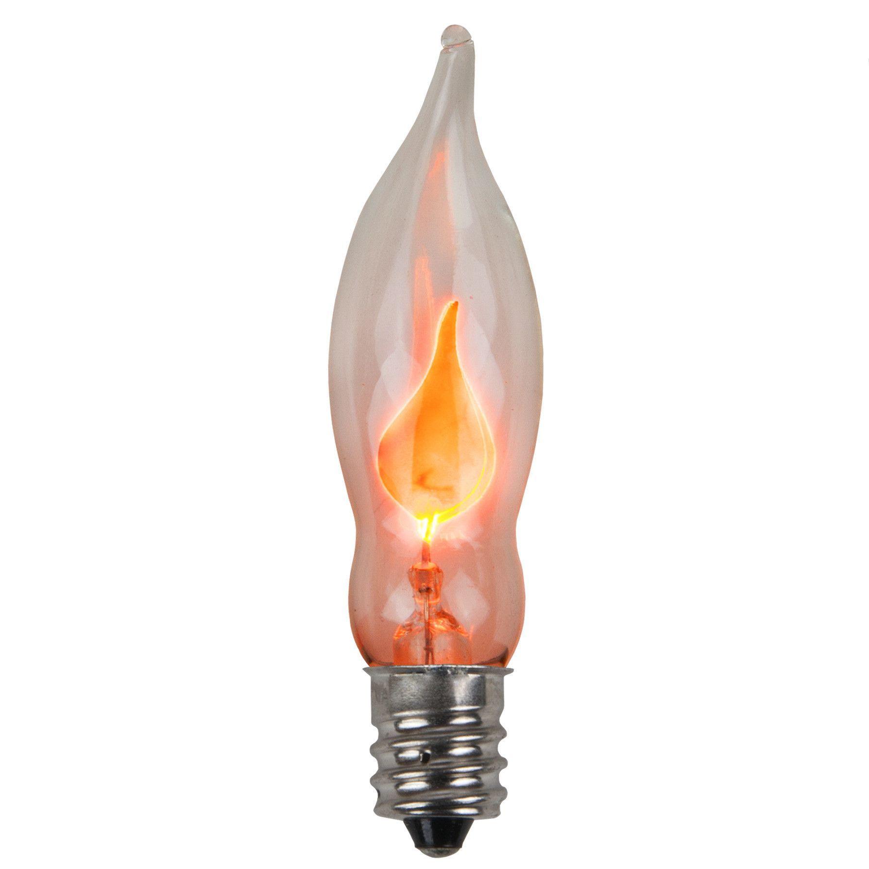 Wintergreen Lighting 3 5w C7 Flicker Flame Light Bulb Pack Of 2 Outdoor Light Bulbs Light Bulb Candle Flickering Lights