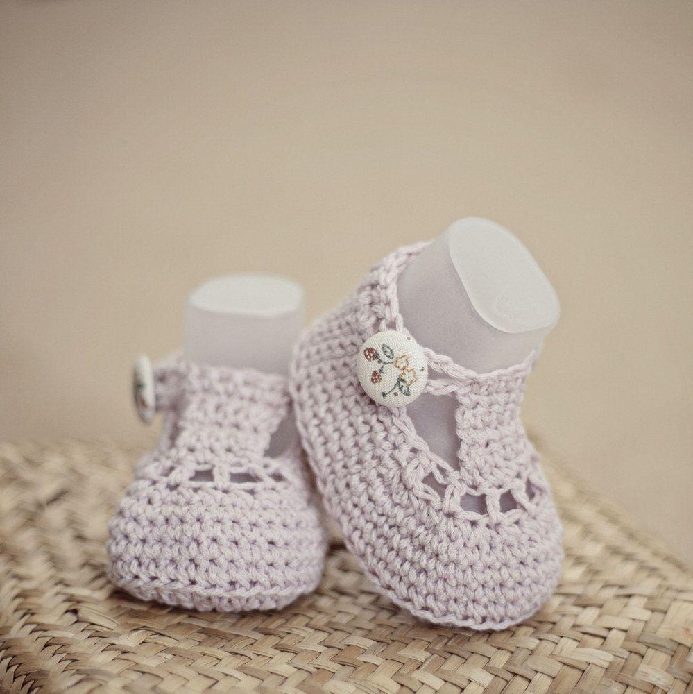 Crochet PATTERN - Charlotte Booties   Zapatos, Bebe y Bebé