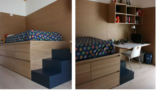 letto singolo con armadio sotto | camera da letto | Pinterest