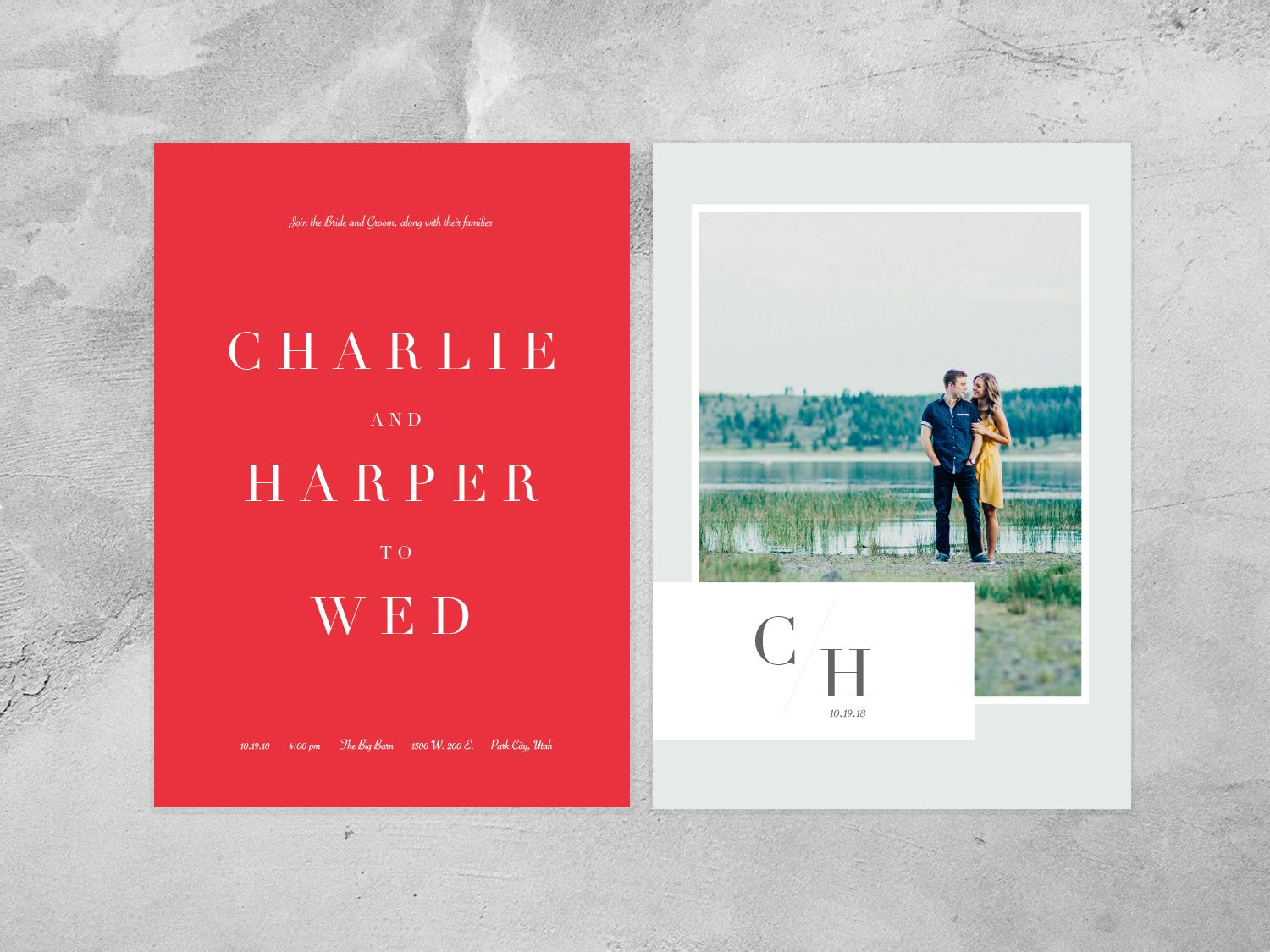 The Charlie | Invites wedding, Bright and Traditional