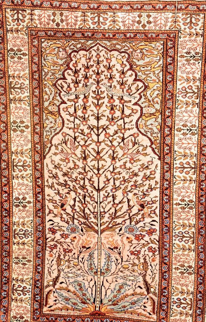 Prayer Rug Silk Kaisery Turkey Circa 40 Years Pure
