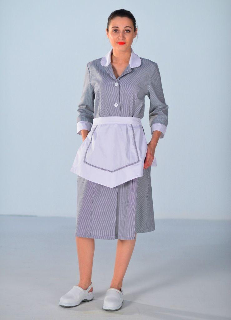 Blouse femme de chambre grise carlton housekeeper pinterest maid uniform maid outfit y maid - Uniforme femme de chambre ...