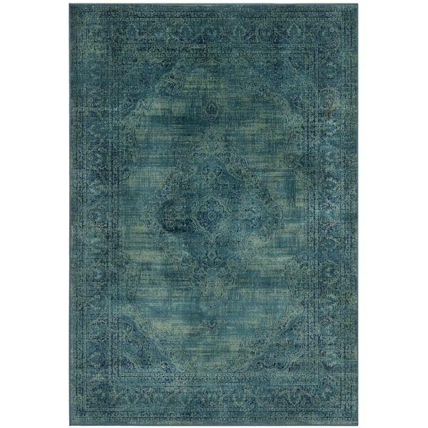 Safavieh Vintage Oriental Turquoise Distressed Silky