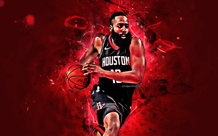 Download Wallpapers James Harden Black Uniform Basketball Stars Nba Houston Rockets Harden Abstract Art Basketball Neon Lights Creative Besthqwallpaper James Harden Houston Rockets Nba Houston Rockets