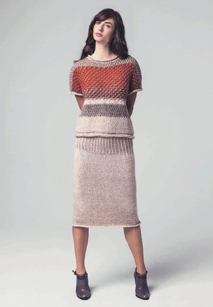 Lana Grossa STRICKROCK Tiffany Pashmina - DIE MASCHE 2014 Folder - Modell 3    FILATI 80f3238baf