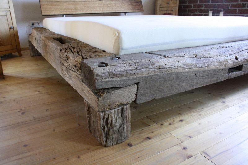 Bett aus alten Eichebalken, historisches Fachwerk Woodwork, Bed - moderne betten ideen
