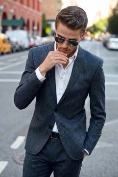 Dynamic Men's Hairstyles Works with Suits (40)