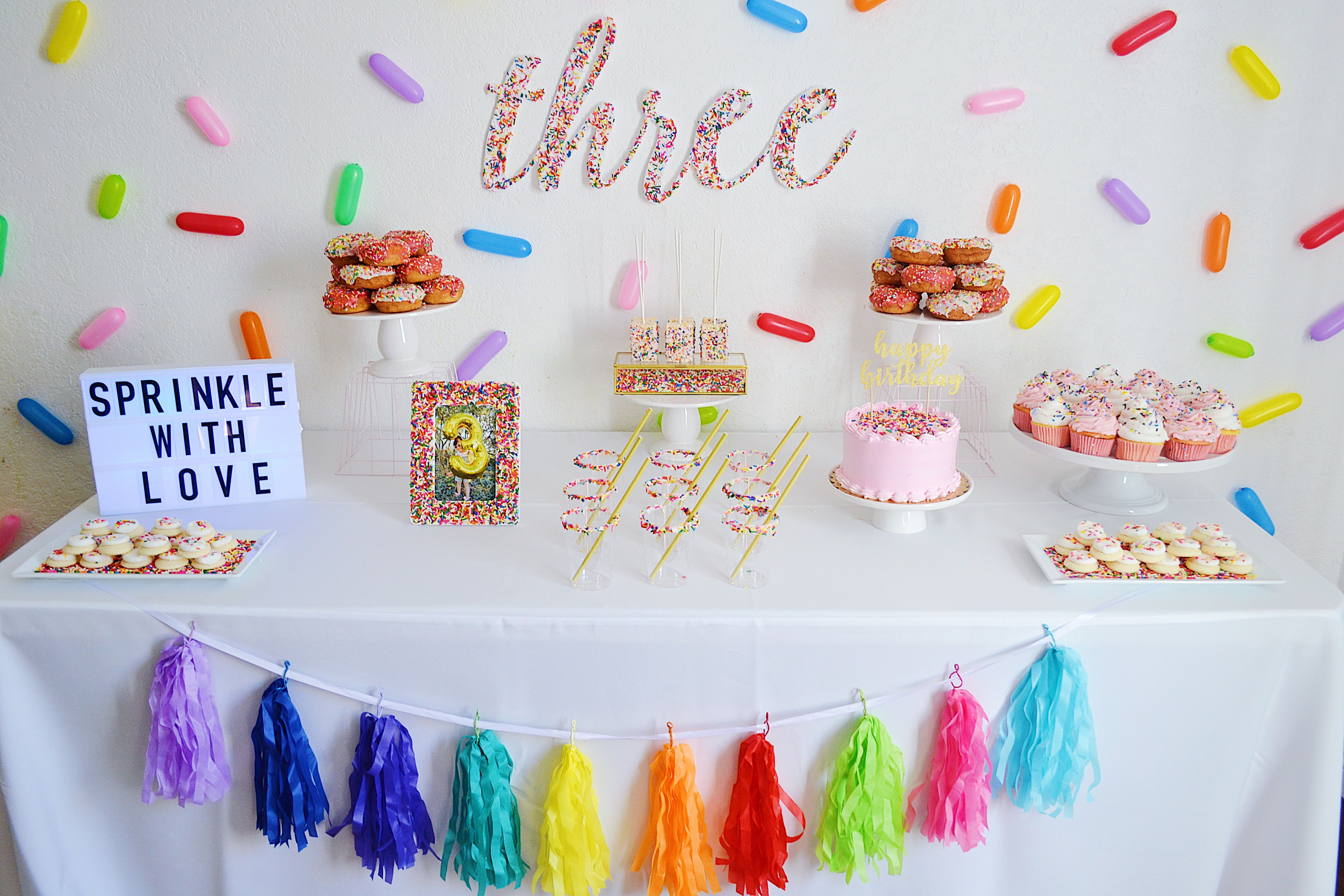 Donut Theme Birthday Party Sprinkle Theme Birthday Party
