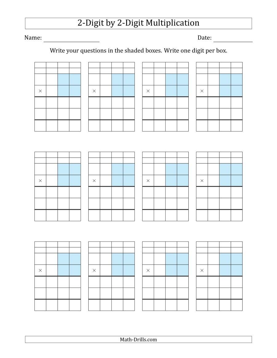 The Multiplying 2Digit by 2Digit Numbers with Grid