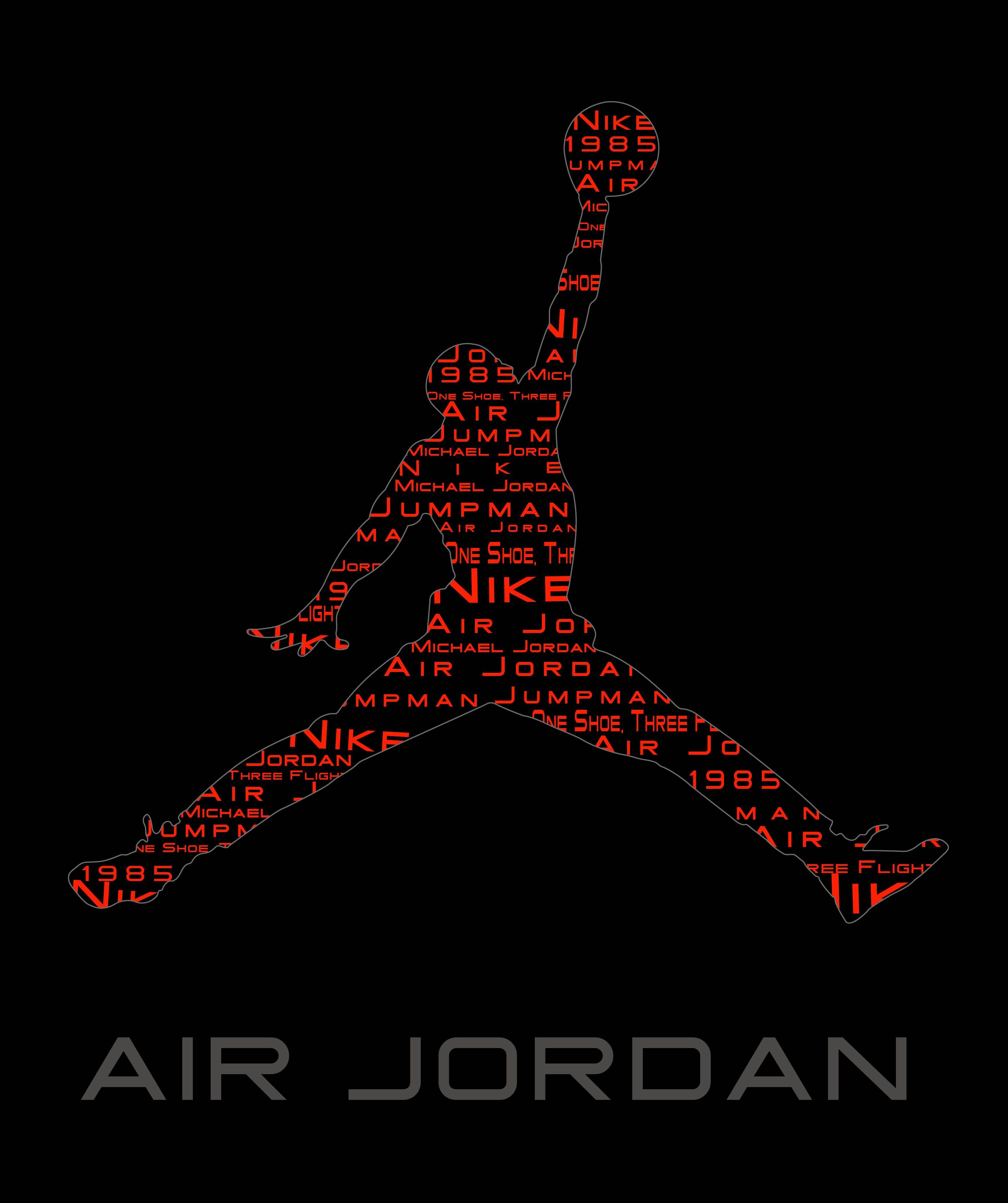 Air Jordan Façon Couleur Papier Peint Symbole