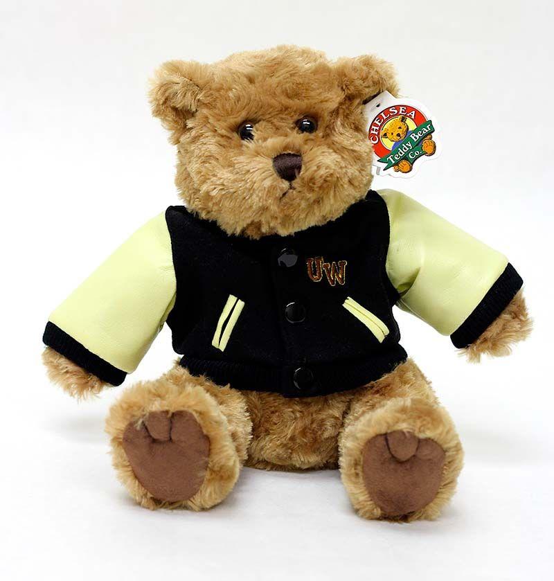 Letterman Jacket Stuffed Bear' 24.95 Letterman jacket