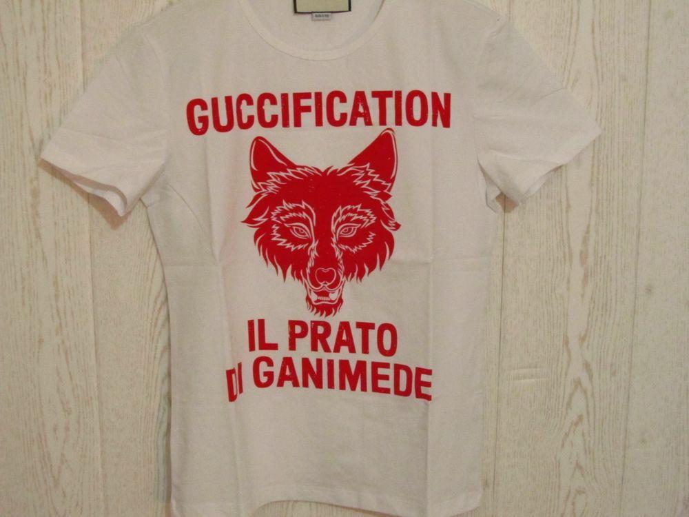 b685265c Gucci Guccification 'IL PRATO DI GANIMEDE' White T shirt Size M #Gucci